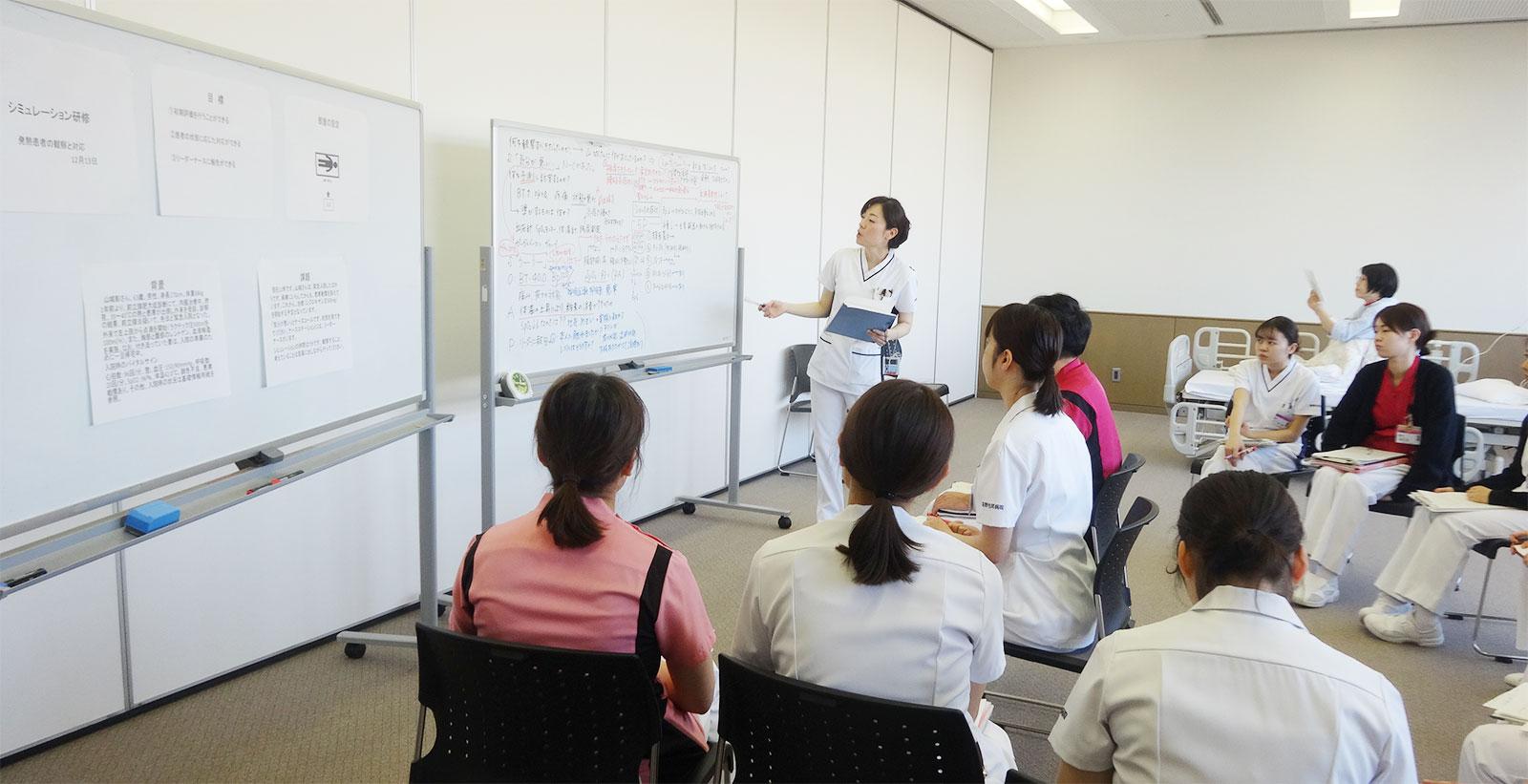 新人看護師フォローアップ研修の風景1